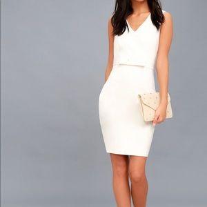 Be My Bow White Sleeveless Bodycon Dress LuLu's